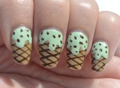 OMD2 challenge (mint): ice cream nails