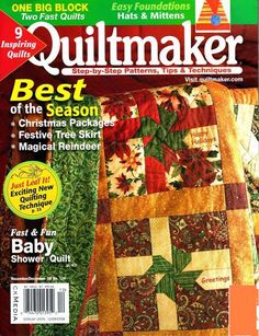nov/dec 2008 - patchwork garden part 4 of 4 Sewing Magazines, Book Crafts, Craft Books, Baby Shower Fun, Book Quilt, Quilt Kits, Christmas Books, Free Sewing, Quilt Patterns