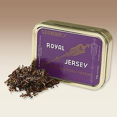 JF Germain Royal Jersey w/ Latakia - PipesandCigars.com   Royal Jersey Original Latakia Mixture is a rich blend of Virginia (for sweetness), Maryland (for excellent burning qualities), Orientals (for spice) and superior Latakia (for body and rich smokiness).