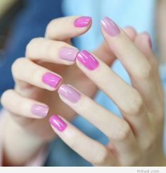Light and hot pink polish