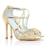 Tess Gold Lace Wedding Shoes