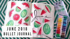 PLAN WITH ME JUNE 2018   BULLET JOURNAL IDEAS   ANN LE - YouTube