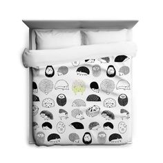 Hedgehogs Duvet Cover Made in USA by sharpshirter on Etsy