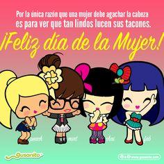 ¡Feliz día internacional de la mujer! 💖💪 | ILoveHola Gusanito.com