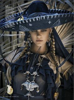 Model: Imogen Morris Clarke | Photographer: Enrique Badulescu - for US Marie Claire, October 2012