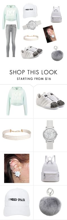 """Beyoncé concert"" by amirahcampbell2813 ❤ liked on Polyvore featuring Ivy Park, adidas Originals, Humble Chic, Nasaseasons, Adrienne Landau and 7 For All Mankind"