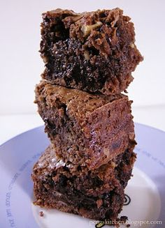 Peng's Kitchen: Double Choc & Nuts Brownies