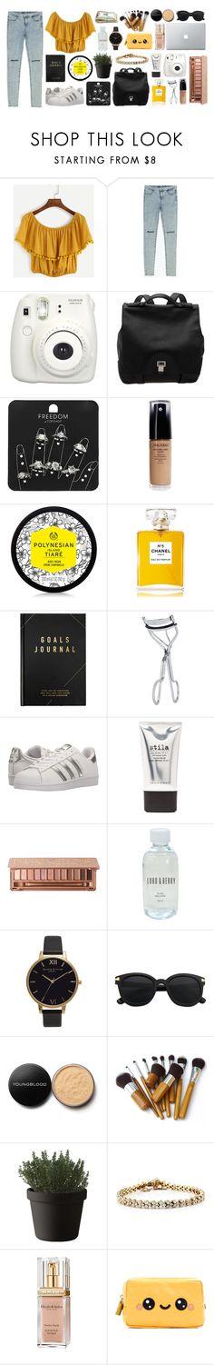 """✨✨"" by viviananoain ❤ liked on Polyvore featuring Zara, Fujifilm, Proenza Schouler, Topshop, Shiseido, Chanel, kikki.K, BBrowBar, adidas Originals and Stila"
