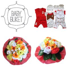 Looking for a unique gift?Baby bouquet by Baby Buket is a perfect gift for baby shower, newborn baby and birthday.   #babybouquet#babybuket#red#flowers#newborngift#babyshower#gift