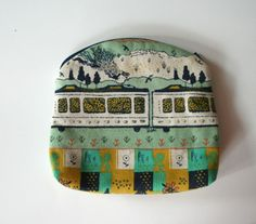 Small Zipper Pouch Womens Accessories Tokyo Train by andreacreates
