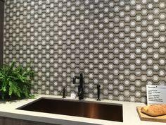 Backsplash tile love by @walkerzanger. As seen at @thermador. #blogtourkbis #designhounds