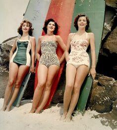 even more retro swimsuits /// http://littlegraypixel.blogspot.com