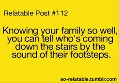 Oh my gosh. So true and a very good thing because then I know if I should run or scoot over so they can join me.