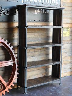 Ellis Shelf by Vintage Industrial Furniture Furniture, Display Furniture, Shelves, Industrial Furniture, Vintage Industrial Decor, Steel Furniture, Vintage Industrial Furniture, Metal Furniture, Shelving