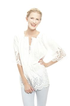 White Out Spring 2013 at MaryBeth! Beautiful blouses by Nimo. www.marybethboutique.com