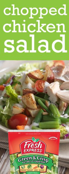 Add leftover chicken & veggies from last night's dinner to the Fresh Express Green & Crisp kit to make today's delicious lunch. An easy meal when you're always on-the-go. Chicken Salad Recipes, Packing Light, The Fresh, Crisp, Salads, Easy Meals, Veggies, Lunch, Kit