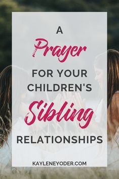 Do you long for your children to have a close sibling bond? This prayer for your children's sibling relationship will help foster a strong sibling relationship building and a strong family bond. Grab this prayer prompt for your children here! Prayer For Daughter, Praying For Your Children, Prayers For Children, Prayer For Family, Pray Quotes, Devotional Quotes, Faith Quotes, Mom Prayers, Bible Verses