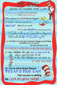 Dr Seuss Quotes To Change Your Life #drseuss #quotes #red #blue