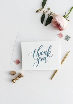 thank you / thanks card SIZE: Folded Thank U Cards, Thank You Gifts, Thank You Typography, Calligraphy Cards, Caligraphy, Thank You Letter, Brush Lettering, Printable Cards, Blank Cards