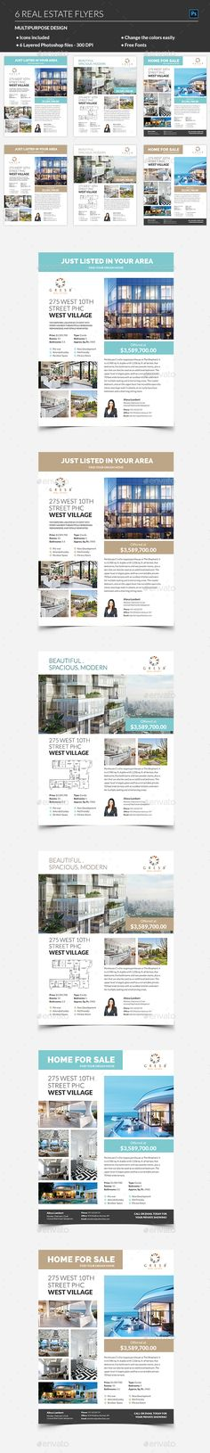 Real Estate Flyer Design Template - Corporate Business Cards Flyer Design Template PSD. Download here: https://graphicriver.net/item/real-estate-flyer/19197032?ref=yinkira