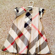 Found while shopping at TotSpot iPhone app : Size L Authentic Burberry Dress . Download TotSpot from the app store. Shop and sell kids fashion easily.