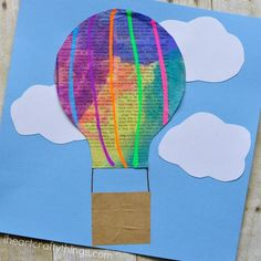 Have you ever been up in a hot air balloon? Although I'm not sure I could handle the heights, I've always dreamed of how fascinating the experience would be. We have been going crazy lately with watercolor painted newspaper crafts and our latest hot air balloon craft for kids is so cute and perfect for …