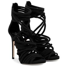 Collection featuring Valentino Sandals, Giuseppe Zanotti Sandals, and 111 other items Black Lace Shoes, Black High Heel Sandals, Platform High Heels, Lace Up Sandals, Sandals Platform, Shoes Sandals, Giuseppe Zanotti Heels, Zanotti Shoes, Me Too Shoes