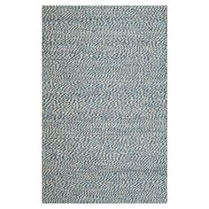 Blue and ivory sisal rug. Loomed in India.   Product: RugConstruction Material: SisalColor: Blu...