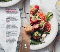 #Recipe: 🇮🇹🥗 Vegetarian Italian Meatballs with Pesto #HealthyEating #HealthyRecipe