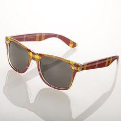 Maroon & Gold plaid sunglasses