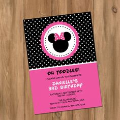 Minnie Mouse Inspired Minnie Girl Birthday Party by DigiPrintz, $10.00