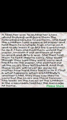 This is a great message for teachers to give students, and it really works.