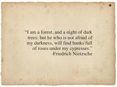 Rock is studying Nietzsche... what insight does it give into the death of Cody? ...Whatever the case, he recognizes himself and Sam in this beautiful quote.