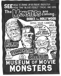 Spook Show posters and memorabilia in Classic Horror Movie Memorabilia Forum Mais Que Horror, Horror Art, Horror Monsters, Famous Monsters, Classic Horror Movies, Nostalgia, Horror Show, Bride Of Frankenstein, Horror Movie Posters