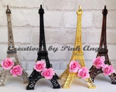 Paris Eiffel Tower Centerpiece-Party by FantastikCreations on Etsy