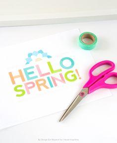 Libre de Primavera para imprimir arte de la pared por Diseño Coma la repetición