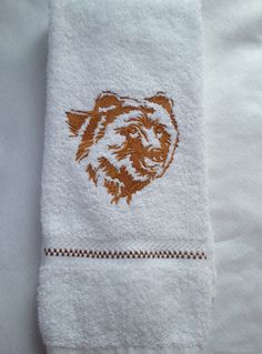 Northwoods Silhouette Grizzly Bear Embroidered by PJSEMBROIDERY, $11.00