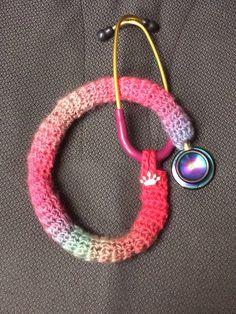 skinny crochet stethoscope cover