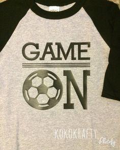 Soccer/Soccer Raglan Shirt/Game On Soccer/Kids by KokoKrafty