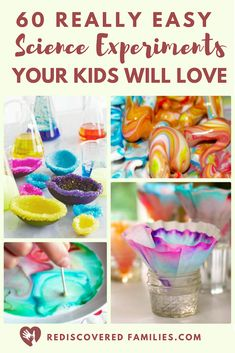 Do you need some very simple science experiments for kids? We've gathered together a collection of awesome science activities for you to enjoy. They are easy to set up and use stuff you have around the house. Perfect for family night or homeschoolers! Science Activities For Kids, Preschool Science, Stem Activities, Science Projects, Family Activities, Science Activities For Toddlers, Science Chemistry, Weird Science, Science Fun