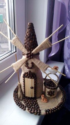 1 million+ Stunning Free Images to Use Anywhere Diy Crafts Knitting, Burlap Crafts, Bottle Painting, Bottle Art, Easy Diy Crafts, Craft Stick Crafts, Diy Upcycled Bottles, Coffee Bean Art, Windmill Decor