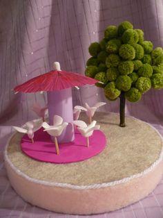Make a Miniature Pom Pom Tree
