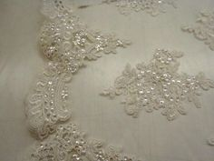 £20.00 per meter 147cm wide Available in Ivory only