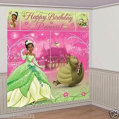 Disney Princess and the Frog Tiana Wall Decoration Scene Setter Birthday Party