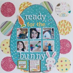Layout for Easter in egg shape. Could try this with other very large shapes too.