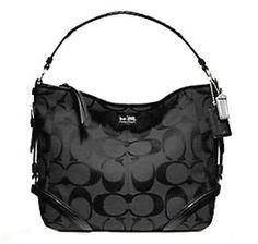 Coach Signature Chelsea Katarina Shoulder Hobo Bag Purse 18903 Black