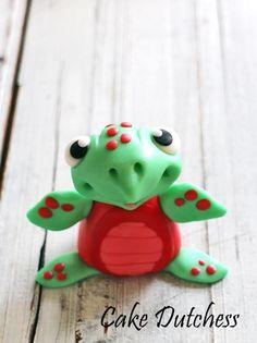 Cute Fondant Turtle - Free Video Tutorial