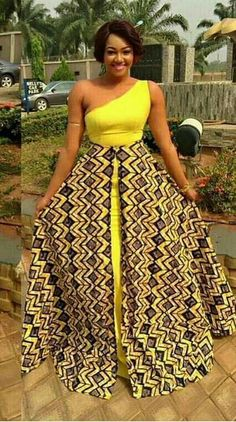 Pretty Exotic Ankara Long Gown My Practical Latest African Fashion Dresses, African Dresses For Women, African Print Fashion, Africa Fashion, African Attire, Ankara Fashion, African Women, African Prints, African Fabric