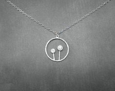 Dandelion Necklace    Silver Necklace by ElementOfNature on Etsy, $16.00