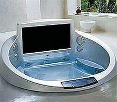 WEBLUXO - Casa & Decoração: Banheira de luxo hi-tech tem DVD e TV embutidos